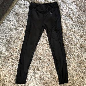 Gymshark leggings black pockets mesh